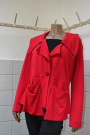 Boris Vest met kraag en zakken rood. Ook in blauw, lime, zwart ennachtblauw