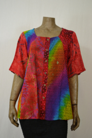 Normal Crazy Blouse New Mosa Aline patch rood