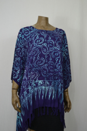 Normal Crazy Blouse Kaftan / Poncho paars