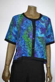 Disini top  187 shirt blauw/zwart