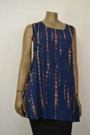 Normal Crazy Blouse Top Aline TiDaye blauw/bruin Rayon 80 cm