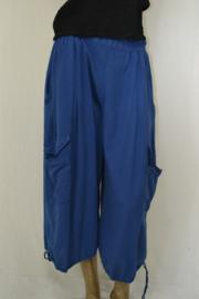 Keko broek 3/4 met koord en grote zakken blauw mt. 1