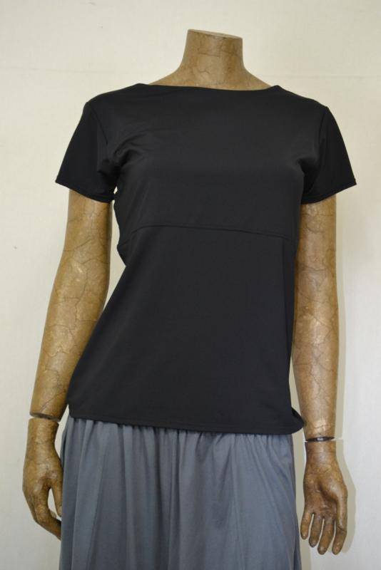 Boris  Shirt zwart met korte mouw L/XL