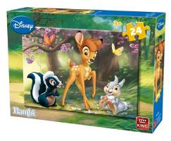Concentratie: Puzzel Bambi 24 stukjes