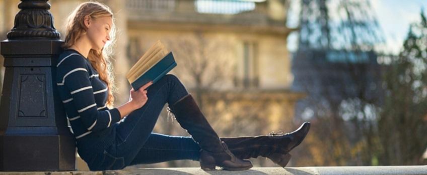 Vrouw lezend - Balans voor Kinderen