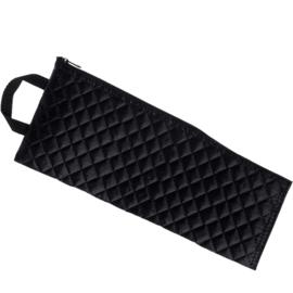 Zwart gewatteerd opbergtasje