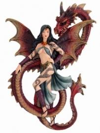 draak met elf, muurhanger