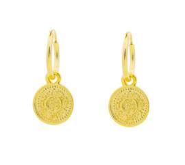 Oorbellen Lucky Coin Gold