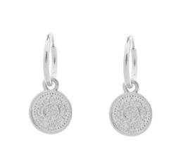 Oorbellen Lucky Coin Silver