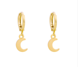 Oorbellen Moon Gold
