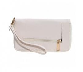 Zipper wallet Creme