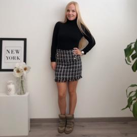 Tweed Skirt Black