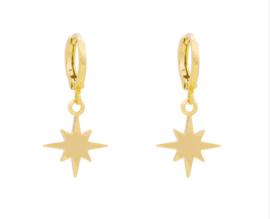 Oorbellen Universe Star Gold