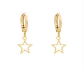 Oorbellen Star Gold