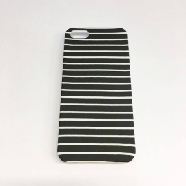 IPhone 5/5s case - stripes black & white