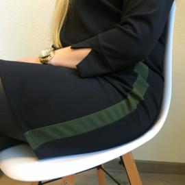 EVI Dress Green Stripe