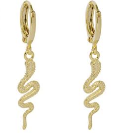 Oorbellen Snake Gold