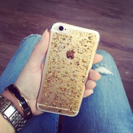 IPhone 6/6s case - glitter gold