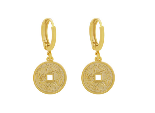 Oorbellen Coin Gold