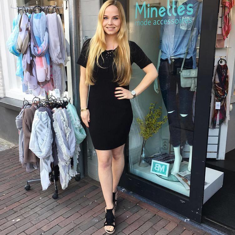 Rib Dress Black