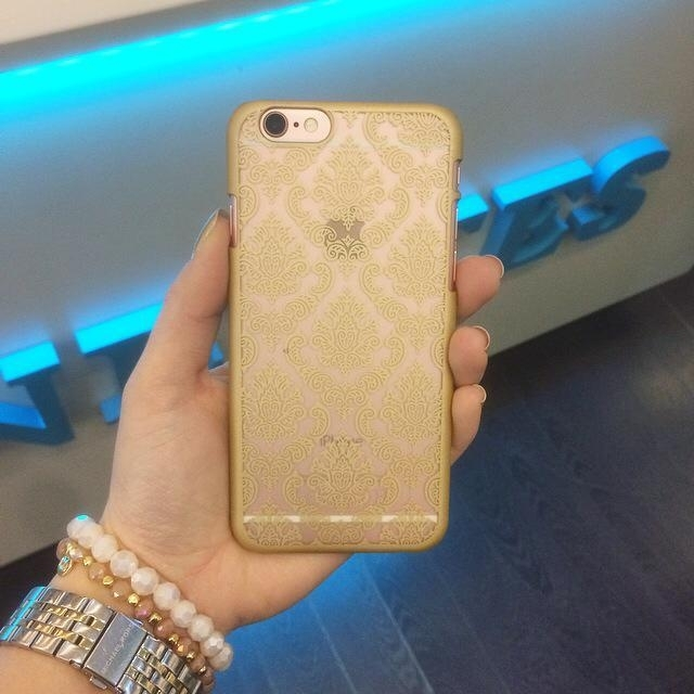 IPhone 6/6s case Vintage Flowers Gold