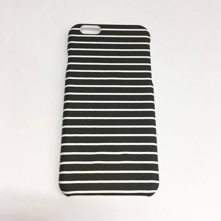 IPhone 6/6s case - stripes black & white