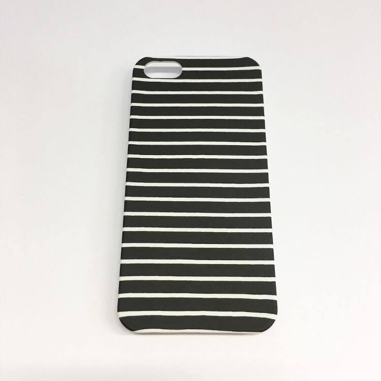 IPhone 5/5s case - stripes black & white