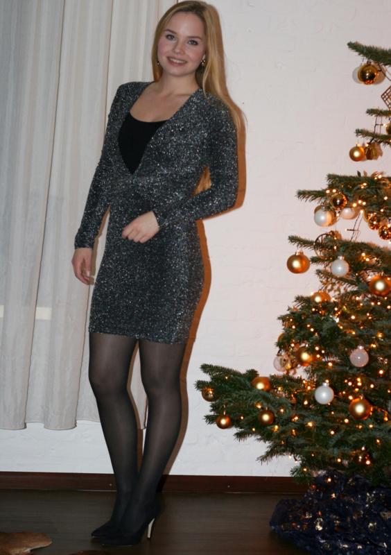 Glitter Dress Silver