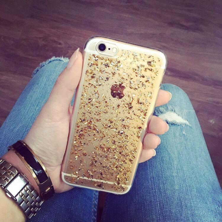 IPhone 6/6s case - glitter gold