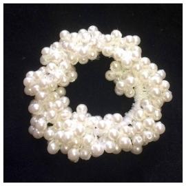 Pearl bun scrunchie