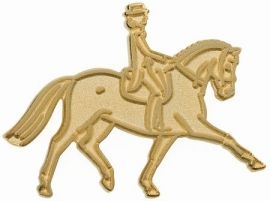 Lapel pin trot gold