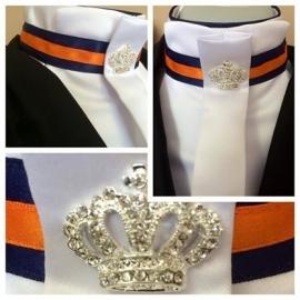 Stock-tie in blue and orange