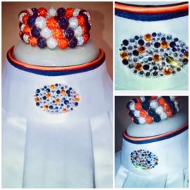 Swarovski Plastron Oval Orange  & Blue