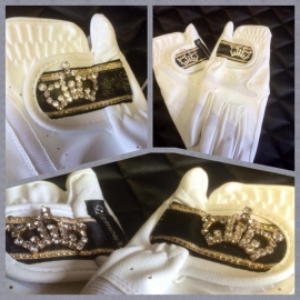 Gloves Shining golden crown