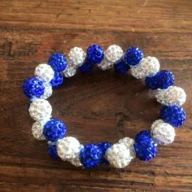 Knotband Glamballa kobalt/witzilver