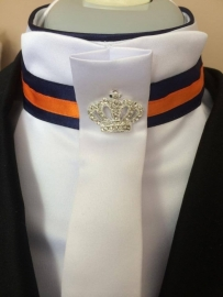 Stock-tie in blue and orange