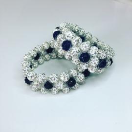 Glamballa elastische knotband 3-rijen