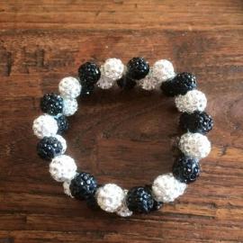 Knotband Glamballa zwart/witzilver