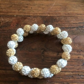 knotband Glamballa goud-witzilver