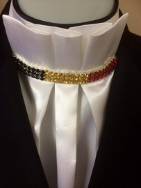 Stocktie  Belle chique with the  Belgium flag in rhinestones  ( also available in other country flag colors)