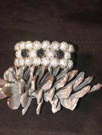 Glamballa elastische knotband wit/zwart