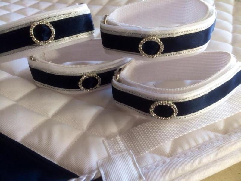 Luxe bandage bandjes wit/blauw per 4