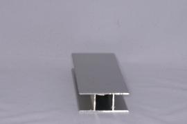 16 V 2 Aluminium koker met 2 profielen 16 mm. vlak Lengte 100 cm.
