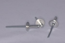 P 14 Popnagel 4,8x10 kop 14 mm. per 100 stuks