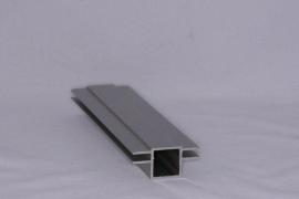 45 V 2 Aluminium koker met 2 profielen 4,5mm. vlak Lengte 199 cm.