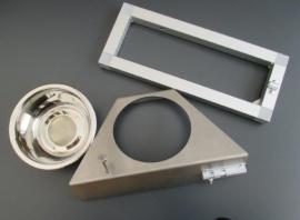 VDP 1 F RVS voederdraaiplateau met 1 bakje inclusief frame