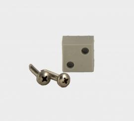 B 25 S Blindverbinding voor koker 25x25x2 mm.  inclusief zelfborende schroeven
