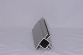 45 D 3 Aluminium koker met 3 profielen 4,5mm. Lengte 199 cm.