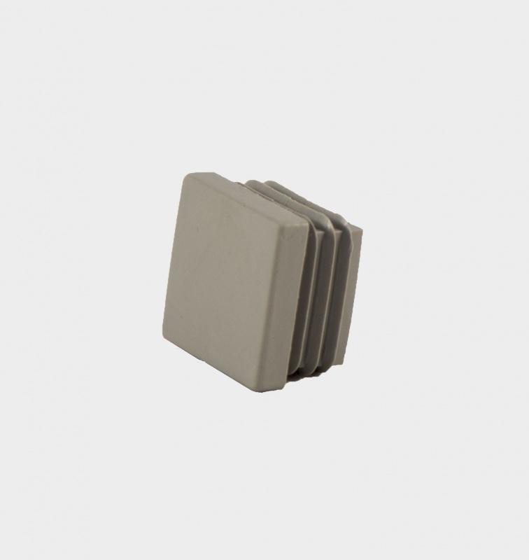 E25  Einddop voor koker 25x25x2 mm.