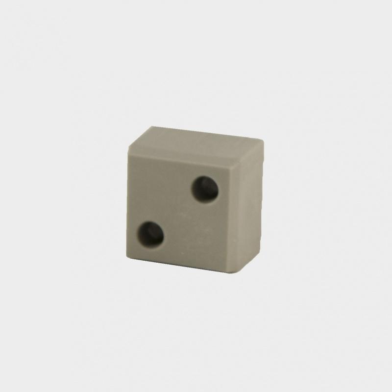 B25 Blindverbinding voor koker 25x25x2 mm.